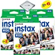 Fujifilm instax Wide Instant Film 6 Pack (60 Exposures) for Fujifilm instax Wide 300, 200, and 210 cameras w/ Microfiber Cloth by Quality Photo