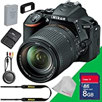 Nikon D5500 DSLR Camera with 18-140mm Lens 8GB Sd Memory Card - International Version (No Warranty)