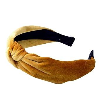 Amazon.com : Headband for Women Yoga Elastic Hairband Velvet Turban Knotted Hair Band Bandanas Sunmoot : Beauty