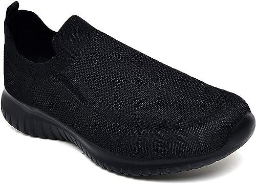 Zuwoigo Men's Mesh Walking Shoes - Slip-on Loafer