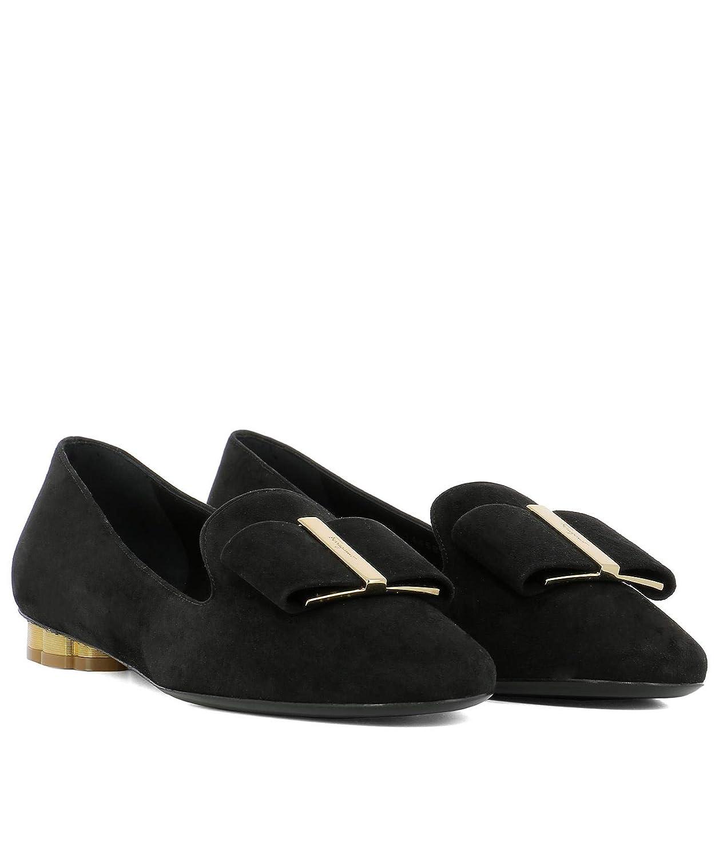 Salvatore Ferragamo - Mocasines para Mujer Negro Negro IT - Marke Größe, Color Negro, Talla 39 EU: Amazon.es: Zapatos y complementos