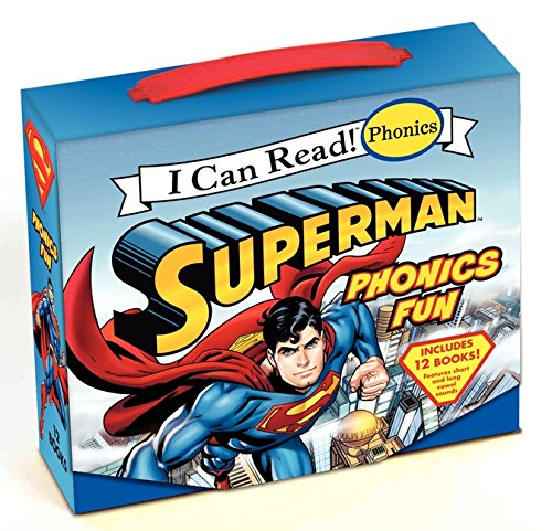 Superman Classic: Superman Phonics Fun (Includes 12 Books) (My First I Can Read) -