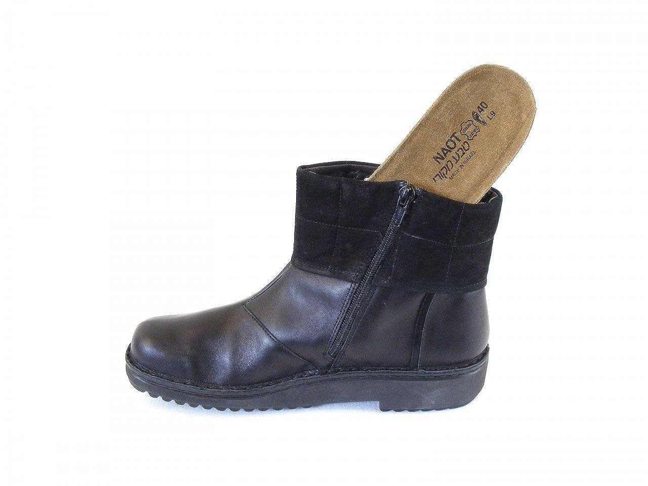 Naot Damen Schuhe Stiefeletten Leder Leder Stiefeletten Kristin schwarz 8944 Wechselfußbett Kork - 91f902