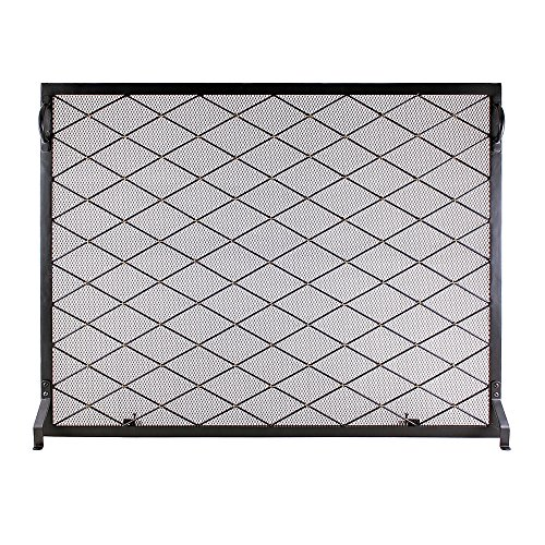 Minuteman International Harlequin Flat Fireplace Screen, 38