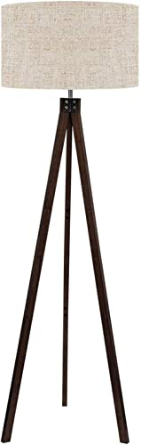 LEPOWER Wood Tripod Floor Lamp