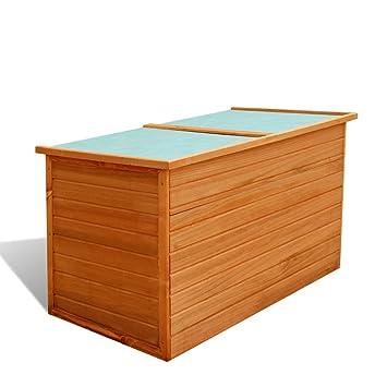 Vidaxl Garten Aufbewahrungsbox Auflagenbox Gartentruhe Kiste Holz