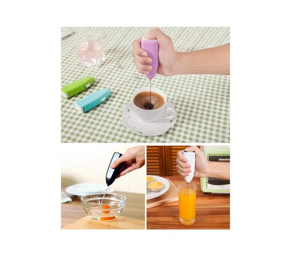 LAAT Milk Frother Coffee Stainless Steel Foamer Stirrer Drink Mixer Whisk Egg Beater Foam Maker Frother Handheld Kitchen Tool-Random Color