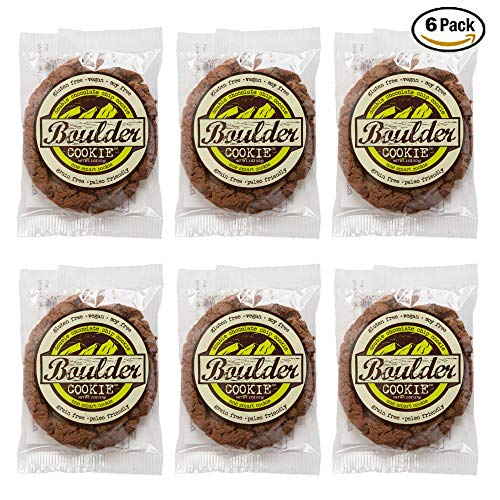 Boulder Bake Double Chocolate Chip Cookie, Grain and Gluten Free, Paleo, Vegan, Soy Free, Non GMO, Loy Glycemic, Low Carb, High Protein (6 pack)