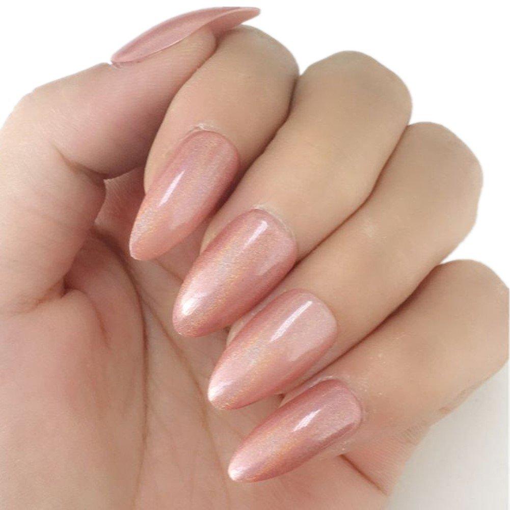MEMEDA Press On Nails Full Cover Fake Nails Quality Tips£¬24 Pcs by MEMEDA