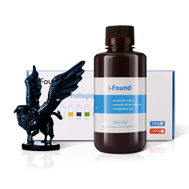 Hieha 3D Rapid Resin LCD UV-Curing Resin 405nm Standard Photosensitive Resin for LCD 3D Printer 500Gram-Clear Blue