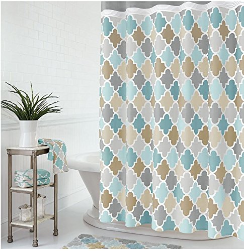 One Home Julius Shower Curtain Multi