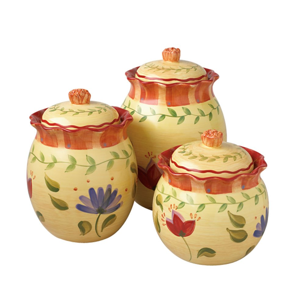 amazon com pfaltzgraff napoli 3 piece canister set reusable