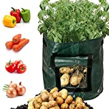 #8: Besiva Potato Grow Bag 2-Pack Garden Vegetables Planter Bags with Flap and Handles Heavy Duty Suitable for Potato, Carrot, Tomato, Onion and so on