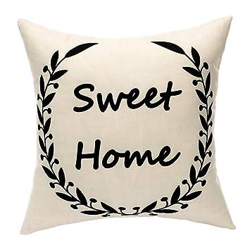 Amazon.com: MKLFBT - Funda de cojín decorativa: Home & Kitchen
