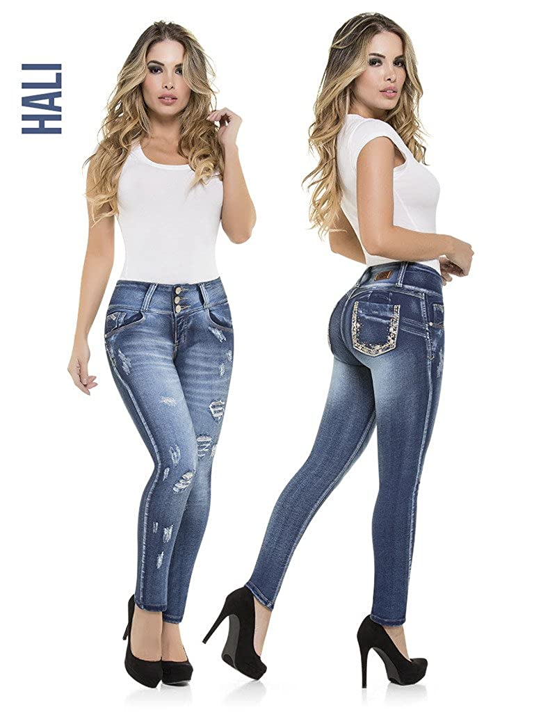 Push Up Skinny Levanta Cola Virtual Sensuality Womens Colombian Butt Lift High Waist Jeans HALI Stretch