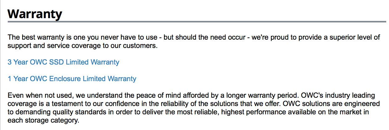 OWC SSD Lote de actualización para 2012-2017 iMacs, Mercurio ...