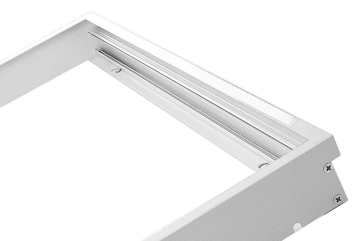 LUMIXON LED Panel Rahmen Gehäuse Aufbaurahmen Aufputz-Rahmen Aluminium (Weiß Emailliert, 60x60) pa-2421