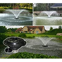 Kasco Marine Floating Fountain - 3/4 HP - Nozzle includes 5 different patterns - Designed for use in Lakes & Ponds Model# 3400JF (110volt w/100 ft power cord)