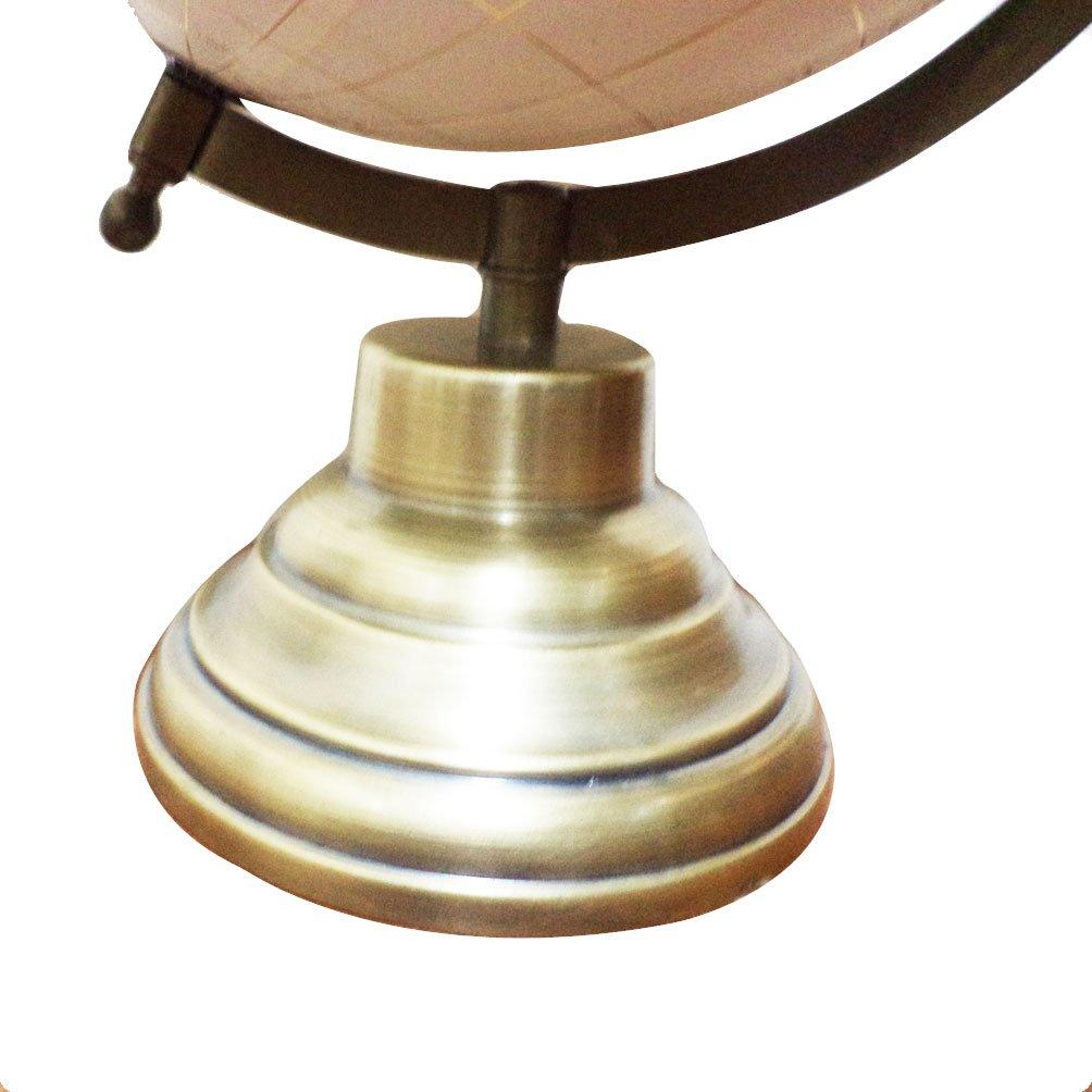 Black//White//Silver Deco 79 28544 Iron World Globe with Marble Base 8 x 5