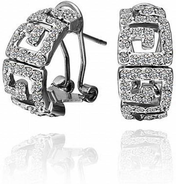 CTT Pendientes,Pendientes Geométricos de Diamantes Chapados en Oro para Mujer/Hechos de Zirconia/Peque?os Y Exquisitos/Antialérgicos/Destellos Plateados/Diamantes