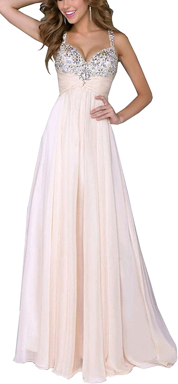 Bestfort Damen Partykleid Elegant V-Ausschnitt Rückenfrei ...
