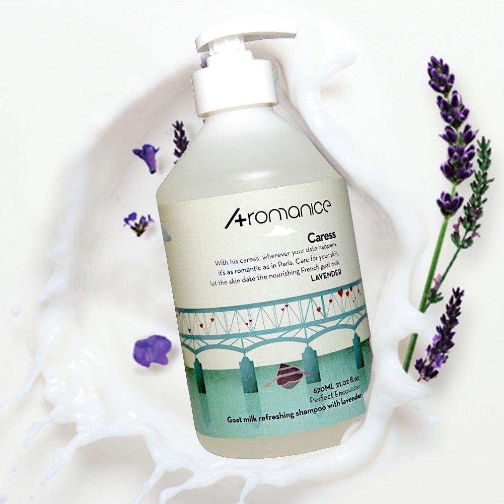 Aromanice Goat Milk Shampoo,Lavender,Nourishing,Silicon Free,620ML(20.9 Oz)