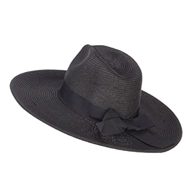 27ca34205 Jeanne Simmons UPF 50+ Fedora Crown Wide Brim Hat - Black OSFM at ...