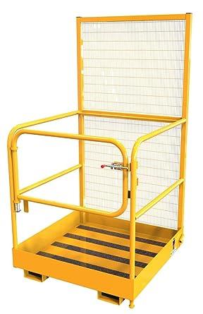 Elevación seguridad amz1023935 carretilla elevadora jaula y cesta ...