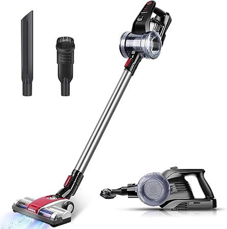 ELEHOT Aspiradora Hogar Escoba de Mano sin Cable 2 en 1 aspiradora portátil con Filtro limpiable sin Bolsa: Amazon.es: Hogar