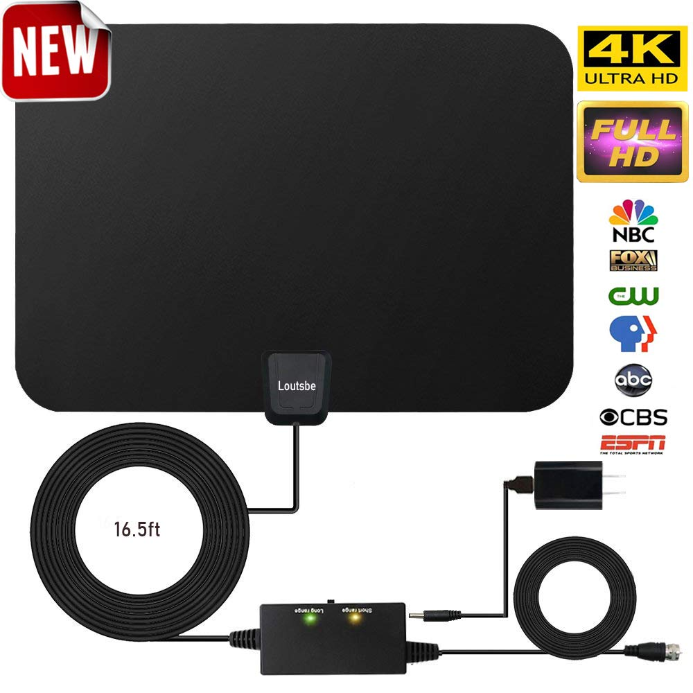 Best Rated In Tv Antennas Helpful Customer Reviews Iphone Charger Wiring Diagram 3 Amplified Hd Digital Antennaskywire Antenna 80 Miles Range Support 4k 1080p