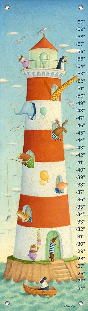 Oopsy Daisy Growth Charts Lighthouse Bay Buddies by Alison Jay, 12 by 42-Inch by Oopsy Daisy