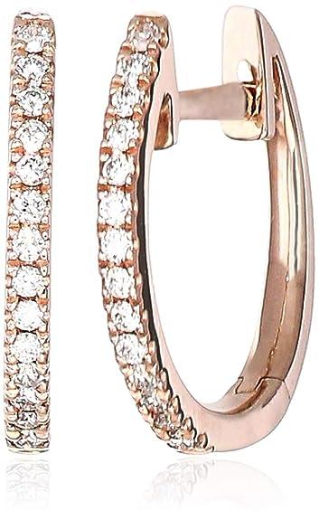a63caeda3a67c Amazon.com: Helzberg Diamonds 14K Rose Gold 1/10 cttw Diamond (H-I ...