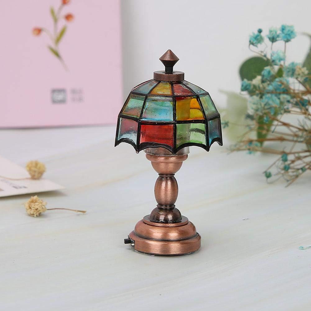 Accesorios de la casa de mu/ñecas Colorido Mini l/ámpara LED Ornamento de simulaci/ón 1:12 Pasamer L/ámpara LED de la casa de mu/ñecas