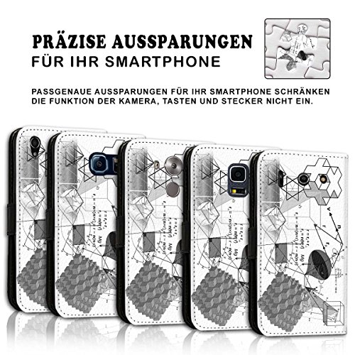 Wallet Book Style Flip Handy Tasche Case Schutz Hülle Schale Motiv Etui für Apple iPhone 4 / 4S - Design Flip MV75