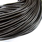 TheTasteJewelry 2mm Genuine Natural Brown Leather Cord Rope Jewelry Making Finishings Round 10m String
