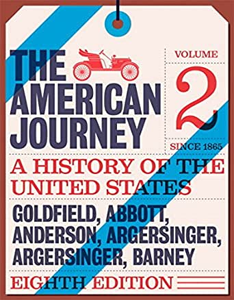 Amazon american journey the volume 2 a history of the united american journey the volume 2 a history of the united states volume 2 8th edition kindle edition fandeluxe Gallery