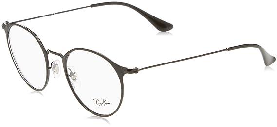 37edb33ea0 Amazon.com  Ray-Ban Unisex RX6378 Eyeglasses Black Matte Black 47mm   Clothing