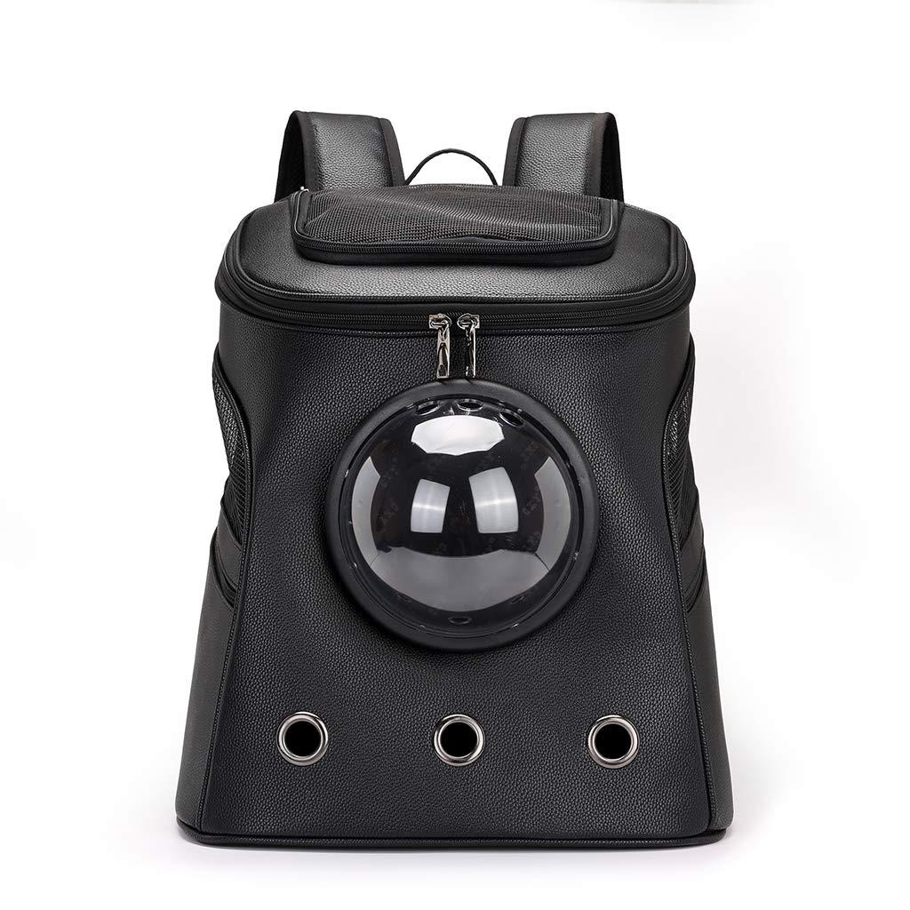Black eletyuty Cat Dog Pet Backpacks Fashion Pet Travel Carrier Space Capsule Sport Travel Outdoor Bag Pet Accessories Black