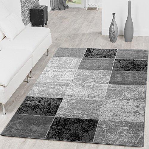 Lieblich Teppich Preiswert Karo Design Modern Wohnzimmerteppich Grau Schwarz Top  Preis,... From Tu0026T Design
