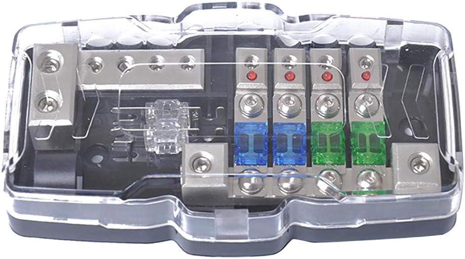 Vehicles 4 Way Mini Blade Fuse Box Holder Distribution Blocks 30A 60A 100A