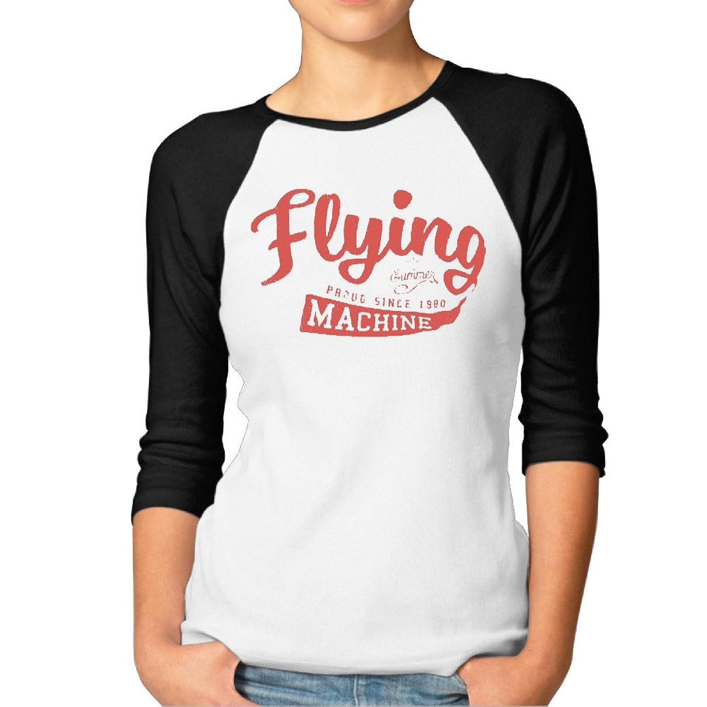 Women Flying Machine Half Sleeve Unique T Shirt