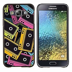 EJOOY---Cubierta de la caja de protección para la piel dura ** Samsung Galaxy E5 E500 ** --Cintas de audio Ilustración