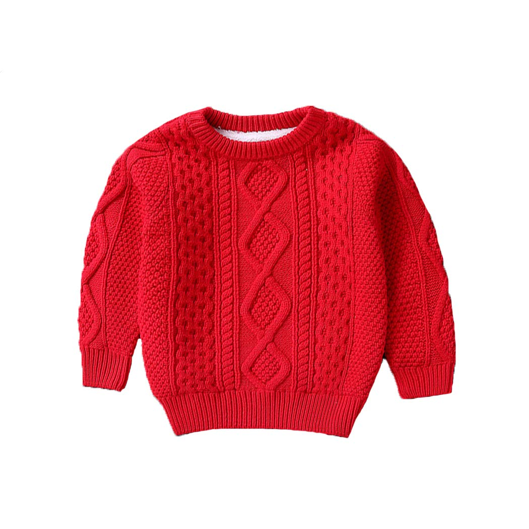 xzbailisha Children's Twist Solid Color High Neck Knit Sweater JH_XZZ_TZ247