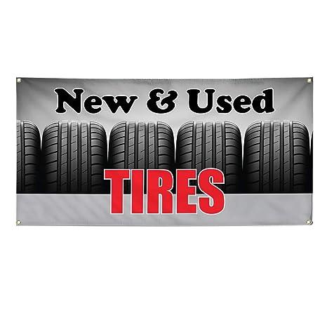 Amazon.com: Vinyl Banner - Cartel de neumáticos para ...
