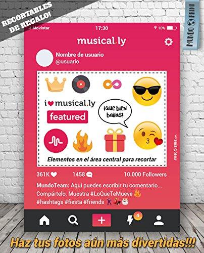 MundoPrint Marco Photocall Musical.LY Personalizado ...
