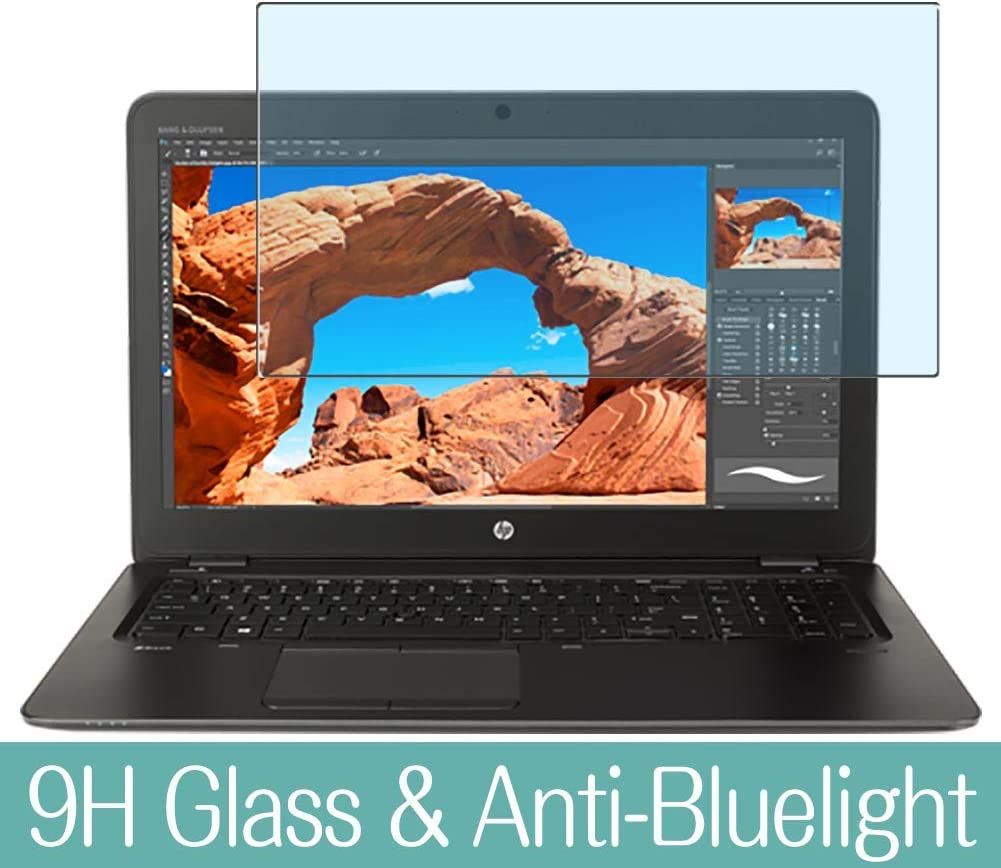 """Synvy Anti Blue Light Tempered Glass Screen Protector for HP ZBook 15u G4 Mobile Workstation 15.6"""" Visible Area 9H Protective Screen Film Protectors"""