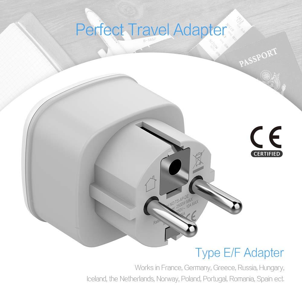 Amazon.com: Tessan - Adaptador de enchufe de viaje (2 ...