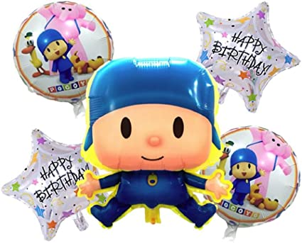 Amazon.com: Juego de globos Pocoyo & Friends – Happy ...