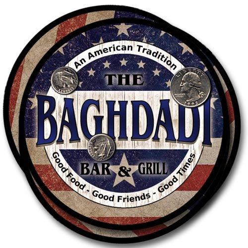 Baghdadi Bar&Grill Family Name Neoprene Rubber Coasters - 4pcs
