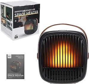 Space Heater, Fan Heater,Personal Mini Space Heater Portable Electric Heaters Fan for Office, Home, Tabletop Under Desk Floor Indoor